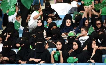 Des Saoudiennes, autorisées pour la première fois, à aller dans un stade, le 23 septembre 2017 à Ryad ( Fayez Nureldine (AFP/Archives) )
