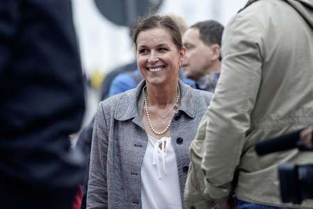 Tatjana Festerling, top candidate for Dresden's mayor from the German right-wing movement PEGIDA, attends a rally on June 1, 2015 in Dresden, Germany ( Jens Schlueter (AFP/File) )