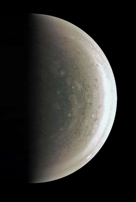 A never-before-seen perspective on Jupiter's south pole ( NASA (NASA/AFP) )
