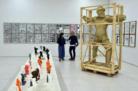 An installation by Spanish artist Daniel Garcia Andujar entitled