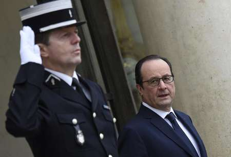 French president Francois Hollande at the Elysee Palace in Paris, on January 28, 2015 ( Martin Bureau (AFP) )