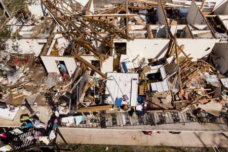 Hurricane Michael was the most powerful to hit Florida's northwestern Panhandle in more than a century, and shredded roofs in Panama City ( Brendan Smialowski (AFP) )