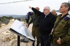 Rivlin tours Lebanese border as IDF exposes fourth Hezbollah tunnel
