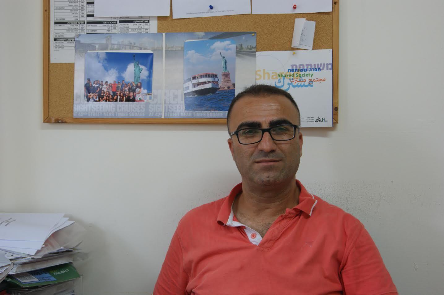 Zakaria Mahameed,coordinator the Soccer for Peace summer camp 2016