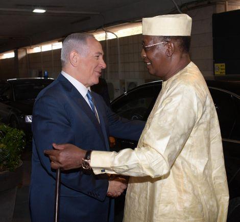 Israeli prime minister Benjamin Netanyahu and Chadian President Idriss Déby, November 27, 2018 in Jerusalem