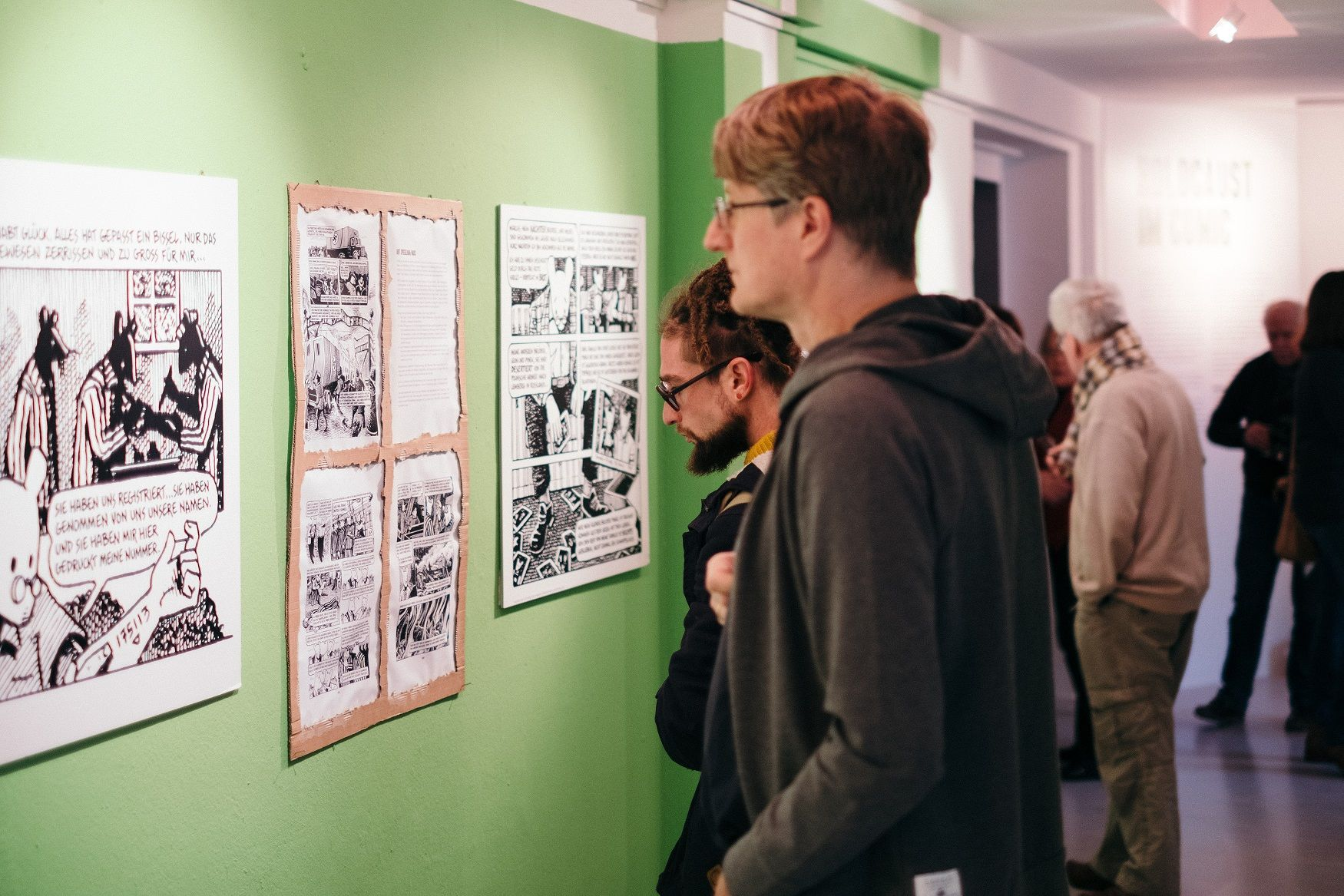 "The ""Holocaust in Comic"" exhibit, Frankfurt"