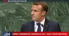 """""""Il n'y a pas d'autre alternative à la solution à deux Etats"""" (Macron à l'ONU)"""