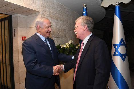 Israeli Prime Minister Benjamin Netanyahu and US National Security adviser John Bolton in Jerusalem, August 19, 2018