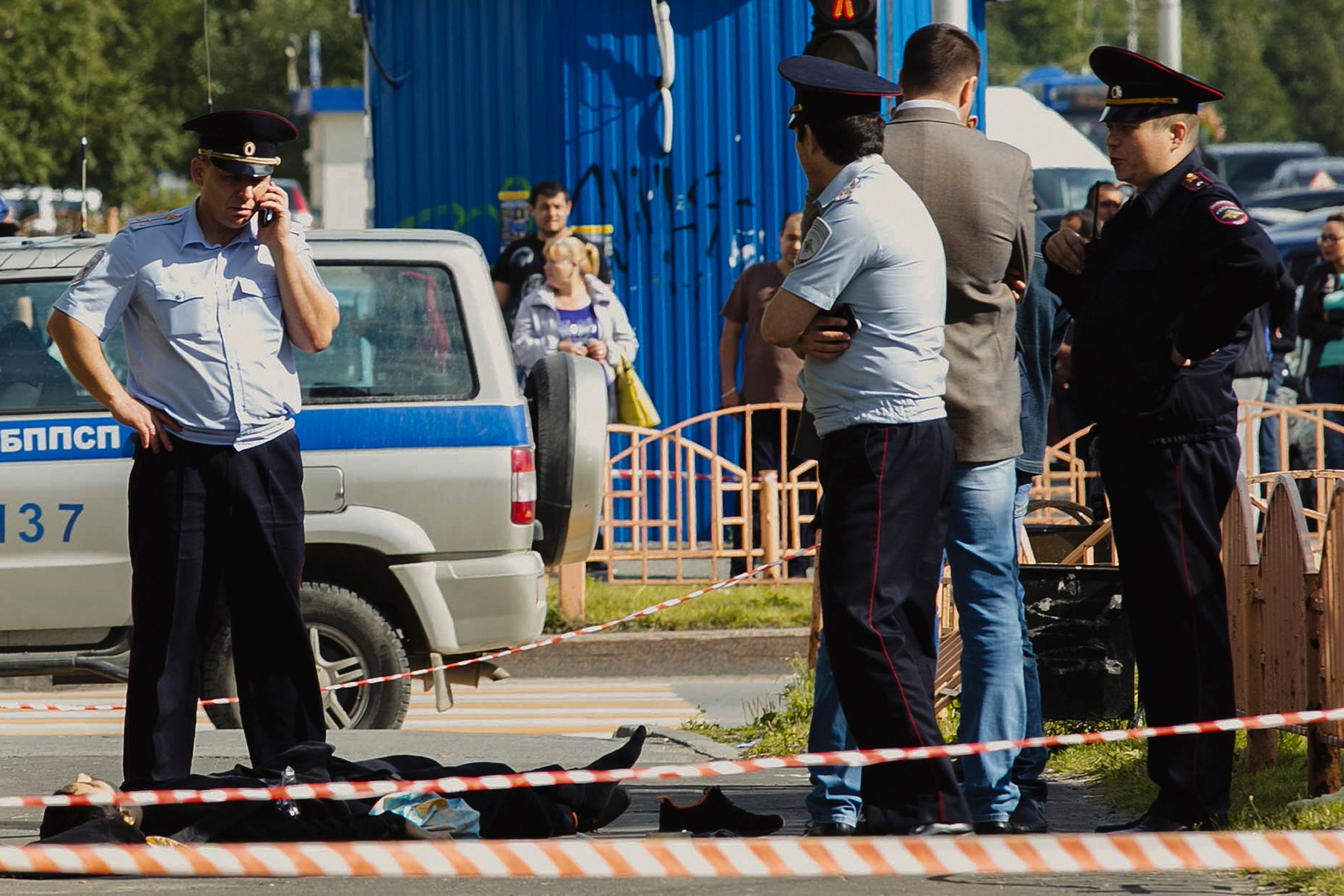 Police in Russia mum over Islamic State responsibility for stabbing spree