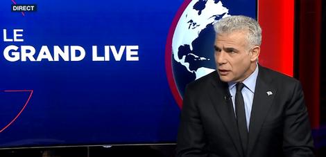 """Israël: """"Si je suis élu, je ferai un gouvernement d'union"""" (Lapid sur i24NEWS)"""