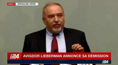 LIVEBLOG: Avigdor Lieberman quitte son poste de ministre de la Défense