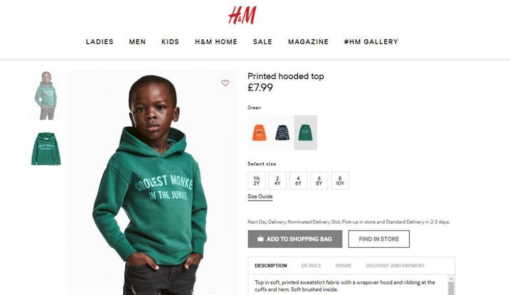 Une publicité de H&M jugée raciste