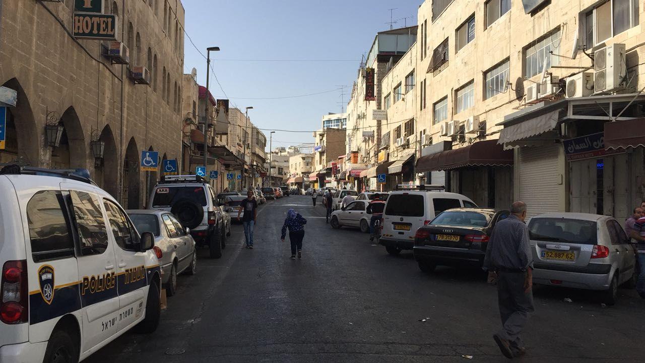An East Jerusalem street on 9/10/16