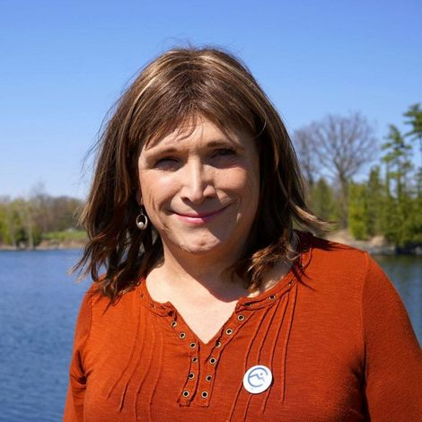 Christine Hallquist, who won the Democratic gubernatorial nomination in the US state of Vermont