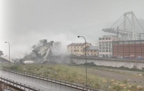 إيطاليا: 22 قتيلًا على الأقل اثر إنهيار جسر في جنوى