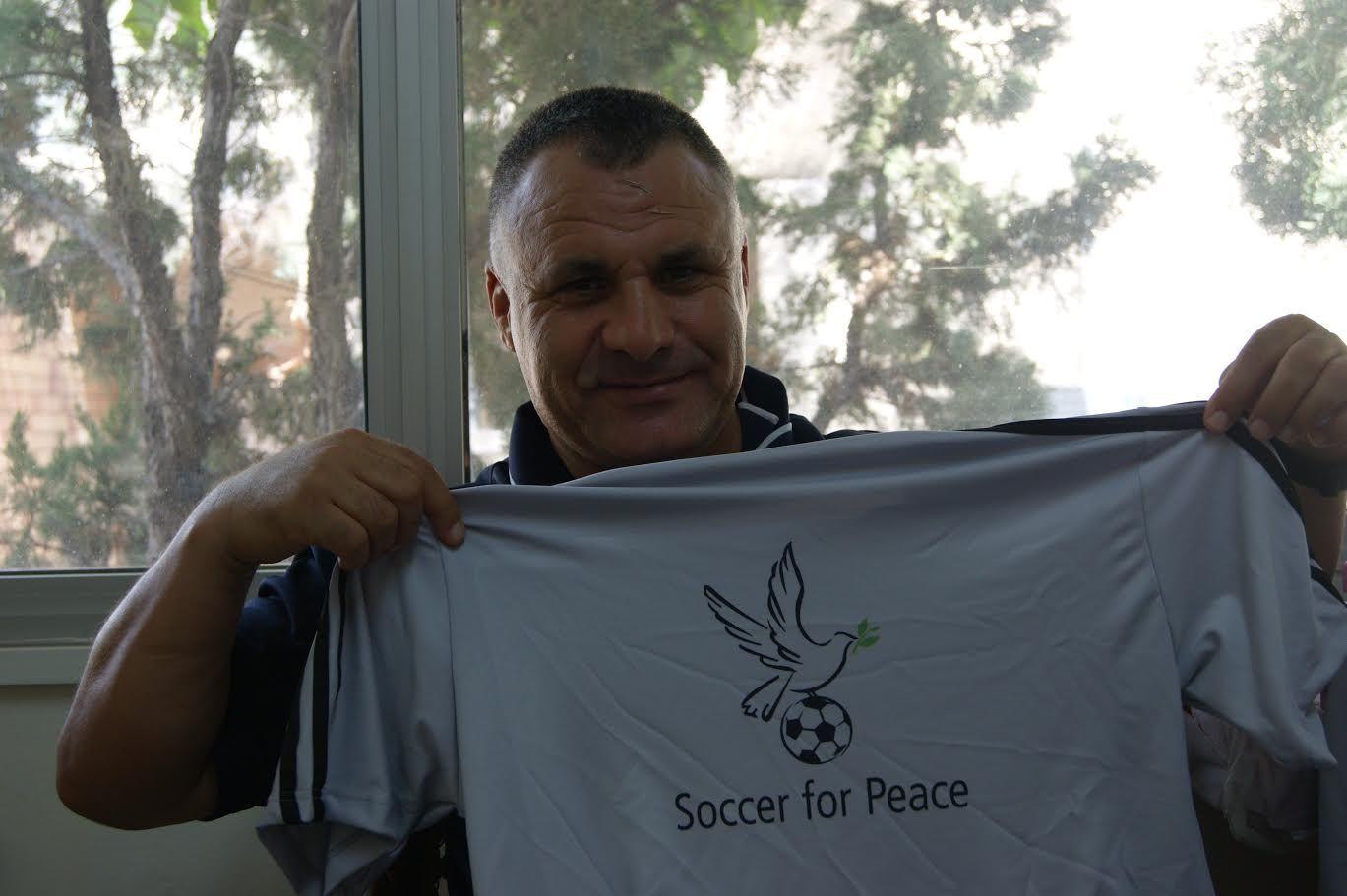 Soccer for Peace camp head soccer coach Fayad Shalabi