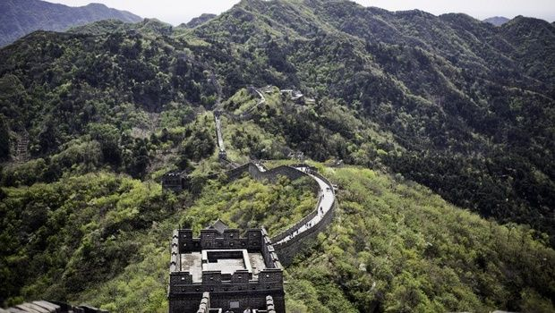 Part of the Great Wall of China is seen in Mutianyu, near in Beijing.