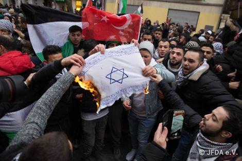 Germany 'ashamed' over flag burning anti-Israel protests