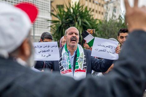 Tunis: un rassemblement pro-palestinien contre la politique israélienne