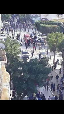 8 جرحى في تفجير انتحاري استهدف قوات الأمن التونسية