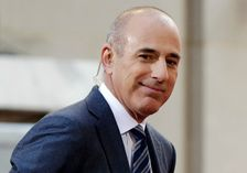 """n this April 21, 2016, file photo, Matt Lauer, co-host of the NBC """"Today"""" television program, appears on set in Rockefeller Plaza, in New York. NBC News announced Wednesday, Nov. 29, 2017, that Lauer was fired for """"inappropriate sexual behavior."""""""