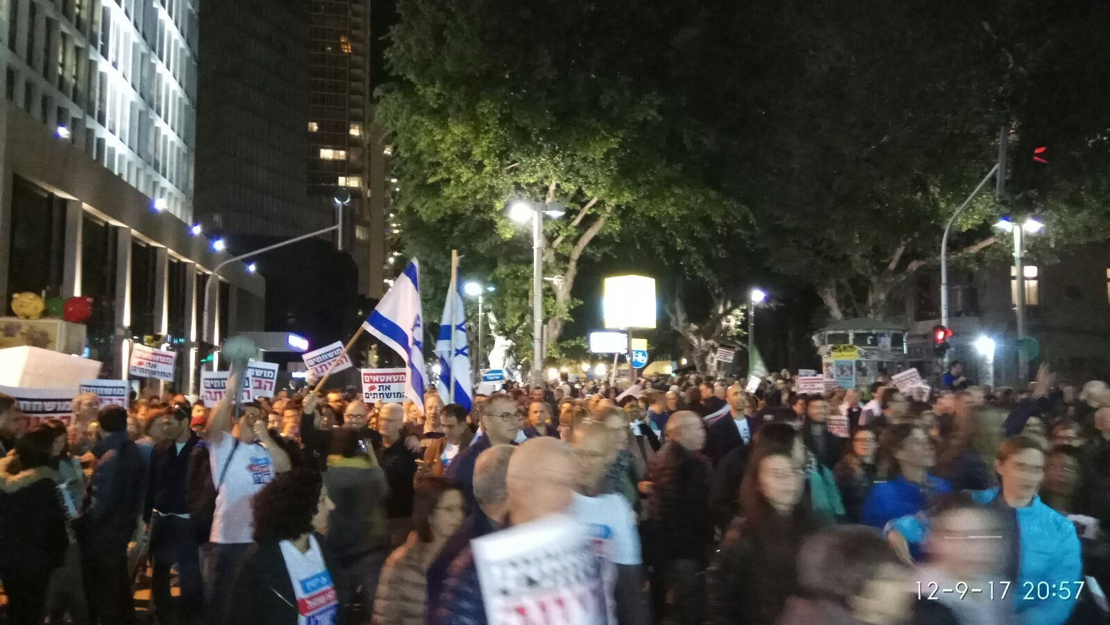 Thousands March In Tel Aviv To Protest Netanyahu, Corruption