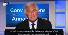 """""""C'est l'antisémite qui invente le Juif"""" (Jean-Paul Enthoven à i24NEWS)"""