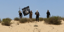 Islamic State militants in Sinai (File)