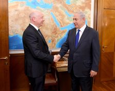 Jason Greenblatt (L), the US President's envoy for Middle East peace, meets Israeli Prime Minister Benjamin Netanyahu in Jerusalem on June 20, 2017.