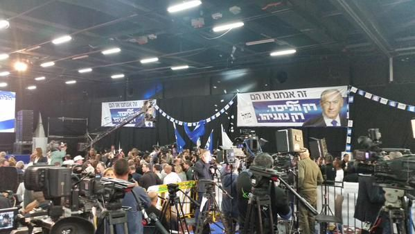 Air of celebration at Likud HQ following exit polls results