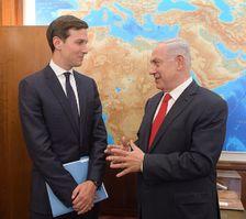 Jared Kushner and Prime Minister Benjamin Netanyahu meet in Jerusalem on June 21, 2017