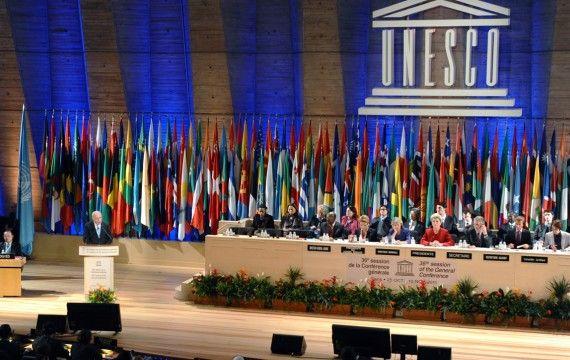 Le siège de l'Unesco, à Paris, le 31 octobre 2011
