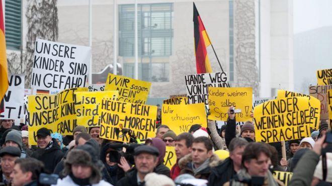 Manifestation anti-migrants en Allemagne