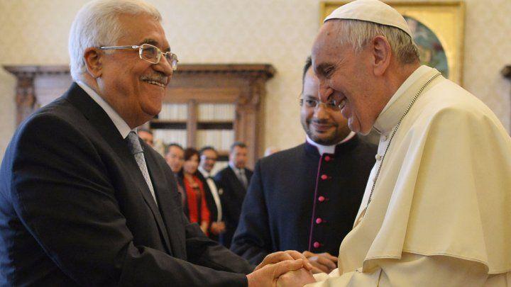 الرئيس الفلسطيني عباس وقداسة البابا فرانسيس