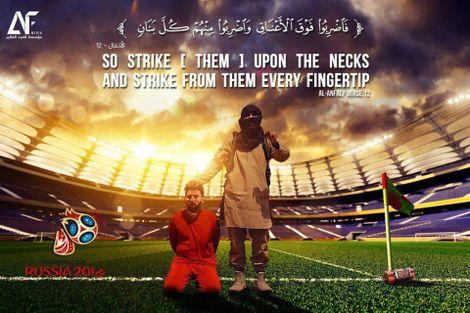 Coupe du monde 2018: nouvelles menaces de mort de l'EI contre Messi