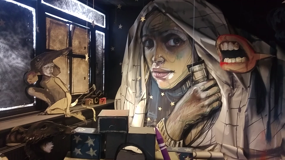 Street artists take over a bank