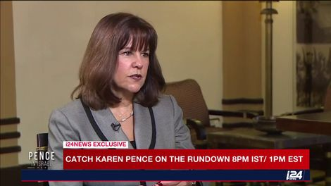 Karen Pence to i24NEWS: 'It's moving to be in Israel where Jesus walked'