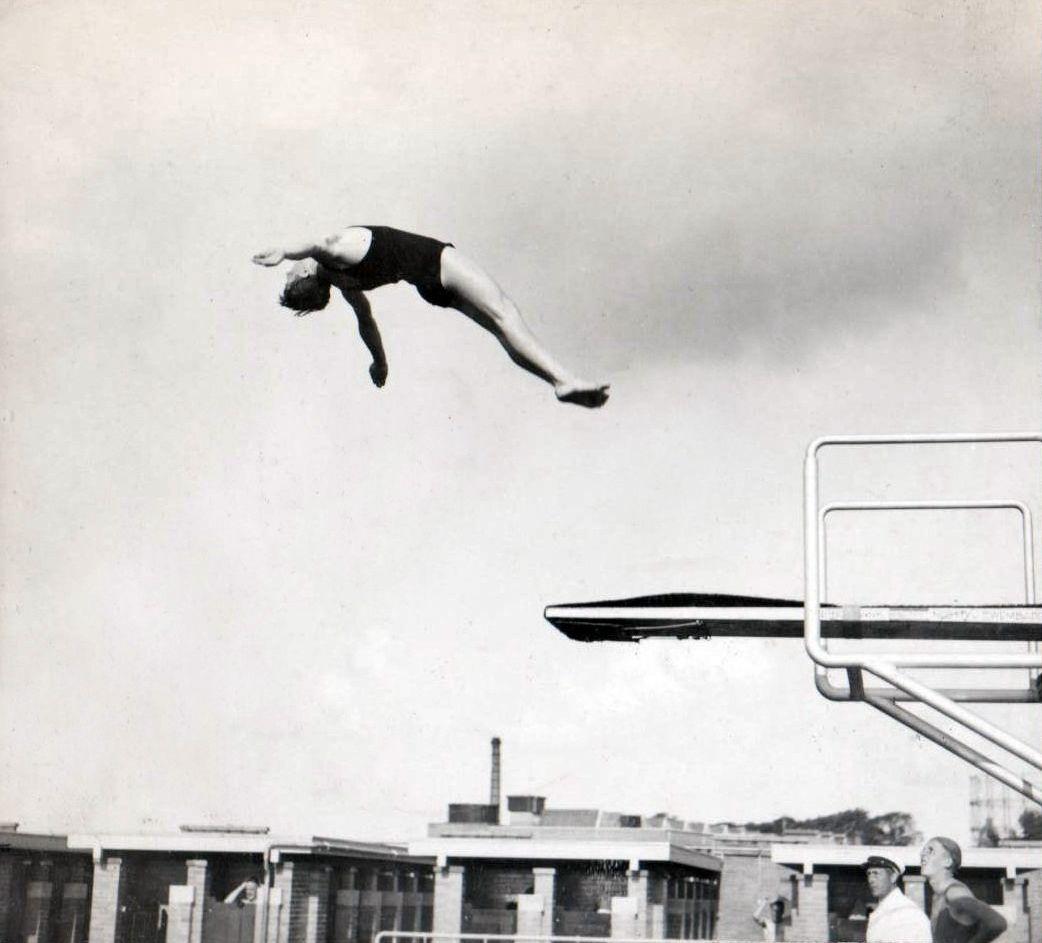 Dutch diver Bob Denneboom, born in Amsterdam December 23, 1909