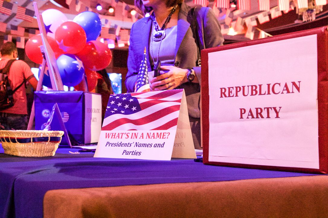 US embassy election party in Tel Aviv on November 8, 2016