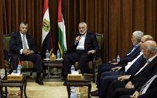 Le leader du Hamas avec la délégation égyptiennes dans le cadre des négociations de réconciliation avec l'Autorité palestinienne