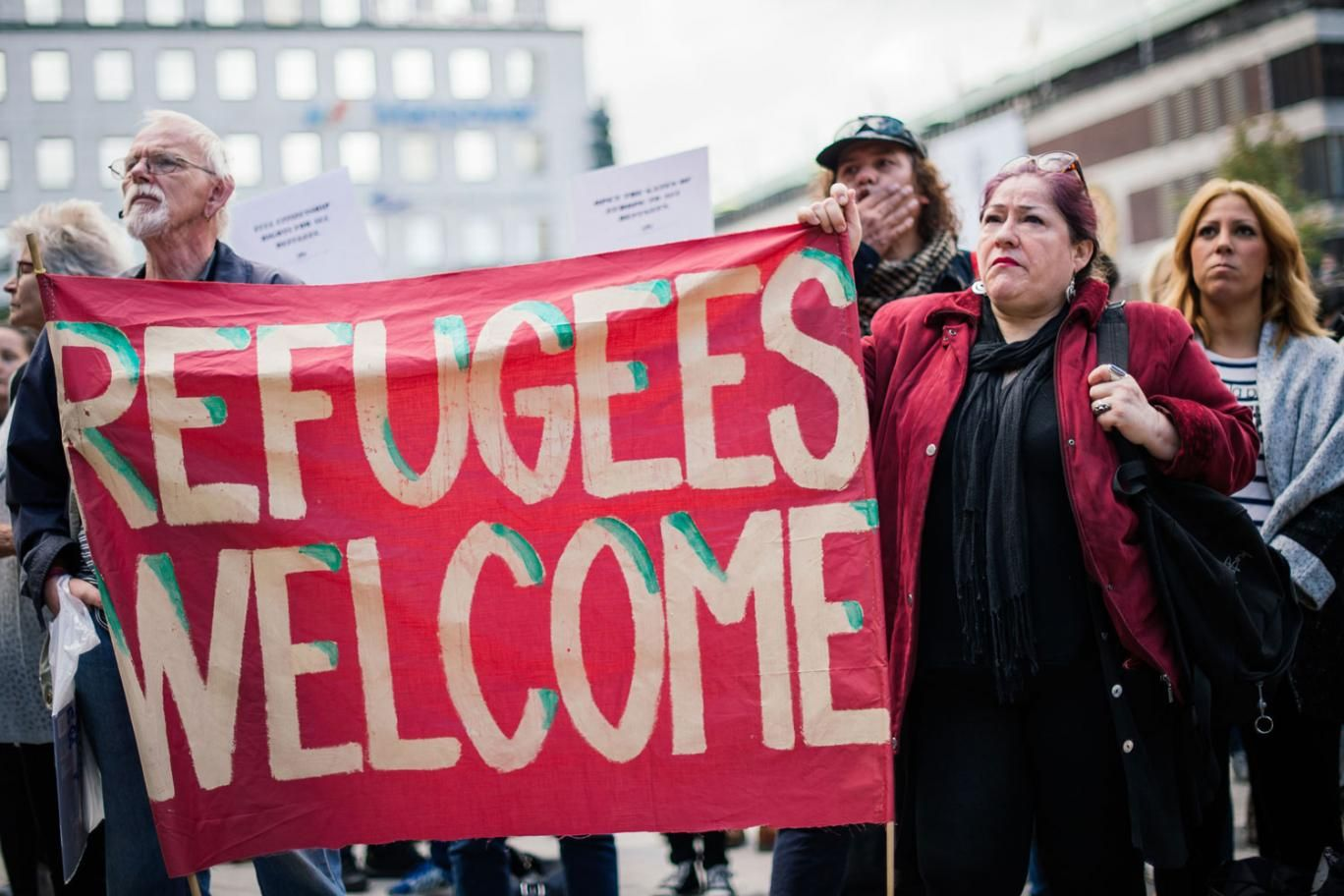 Around 20,000 pro-refugee demonstrators took to the streets on London on September 17, 2016.