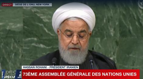 """""""Israël représente la plus grave menace à la paix mondiale"""" (Rohani à l'ONU)"""