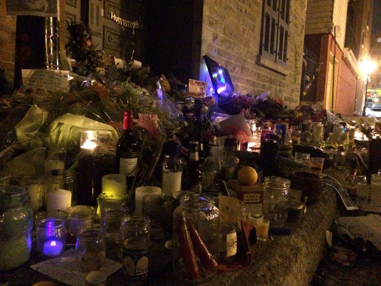 Memoral candles for Leonard Cohen