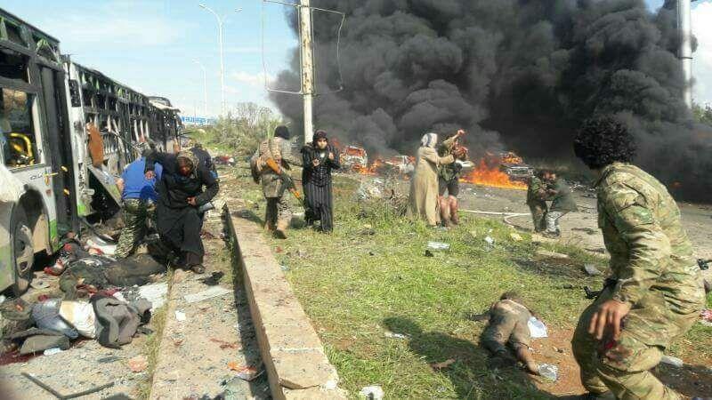 Syrie : au moins 43 morts dans l'attentat contre des personnes évacuées
