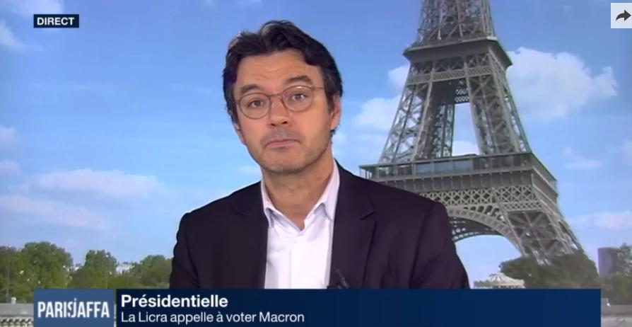 """""""Nous appelons à voter pour Emmanuel Macron"""" (Licra à i24NEWS)"""