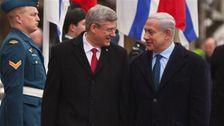 Le premier ministre canadien Stephen Harper et son homologue israélien Benyamin Netanyahou (archives