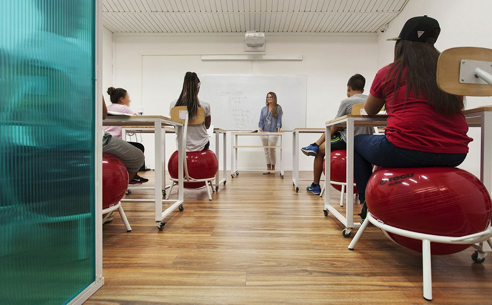 Innovative English Classrooms ~ I news yoga balls and grass walls an experimental