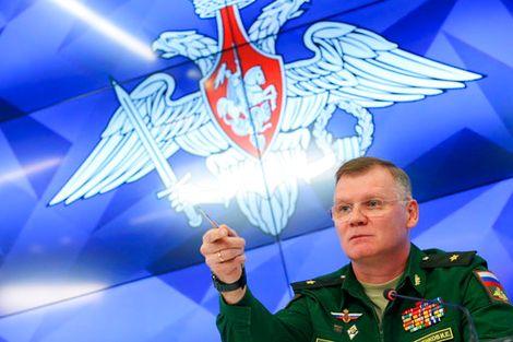 اللواء إيغور كوناشينكوف الناطق بلسان وزارة الدفاع الروسية