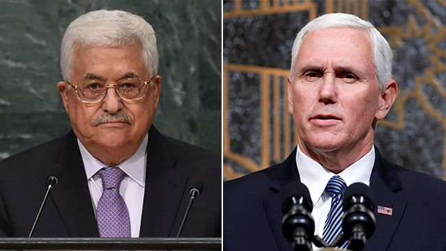 Mahmoud Abbas refuse la visite de Mike Pence