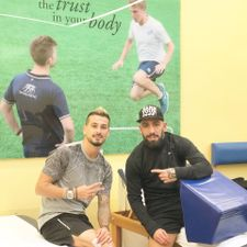 Israeli, Iranian soccer players' photo a rare show of sportsmanlike camaraderie